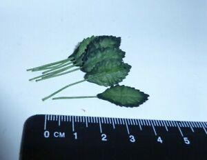 1:12 Scale 20 Leaves b   Dollshouse Miniatures Flowers, Garden