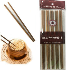 """BROWN Bamboo Chopsticks 9.5""""Inch Wooden Re-usable Chopstick Pack of 10 pairs"""
