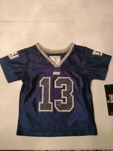 NFL Girls Blue New York Giants Odell Beckham Jr #13 Football Jersey sz 12 months