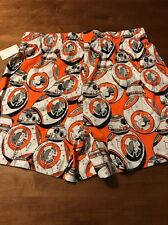 Star Wars R2D2 Orange White Men's Boxer Shorts Underwear Size Large NWT