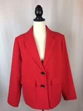 Sz 2 CHICOS Chinese Red 2-Button Lined Modern Blazer NWT L 12 Career 2-Button