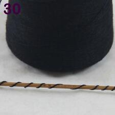 Lot of 1 cone 100g Luxurious Mongolian Pure Cashmere Knitting Yarn 30 Black