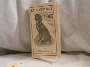 1922 FOLD OUT FOR DISEASES OF DOGS BY PARKE,DAVIS & CO