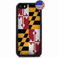 MarylandGrunge State Flag Hard Case Cover For iPhone 11 Pro Max Xs XR 8 Plus 7