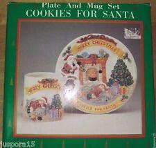 The Heritage Mint, Ltd. NIB Holiday Collection Plate/Mug Set Cookies For Santa