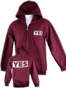 Daniel Bryan Yes Mens Red Zipper Hoody Sweatshirt