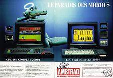 Publicité Advertising 1986 (2 pages) Ordinateurs CPC 464 et 6128 Amstrad