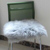 Sheepskin Long Wool Cushion Furry Warm Thicken Chair Sofa Car Seat Pad Home Mat