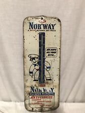 Rare Norway Radiator Products Anti Freeze Advertising Thermometer