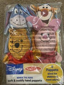 Disney Melissa & Doug Winnie The Pooh Soft & Cuddly Set of 4 Plush Hand Puppets