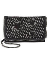 INC International Concepts Handbag Kadi Glitter Stars Crossbody Black  $79.50