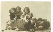 FRANCE ANTIQUE CPA CARTE POSTALE PHOTO POSTCARD : YOUNG CHILDREN