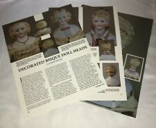 4p Magazine Article &  Pics - Decorated Bisque Doll Heads