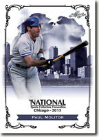 (50) PAUL MOLITOR - 2013 Leaf National Convention PROMOTIONAL Baseball Card LOT