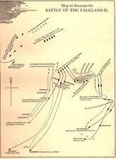 7x5 Photo ww1DB4 World War 1 Maps Map Showing The Battle Falklands 00 1 5