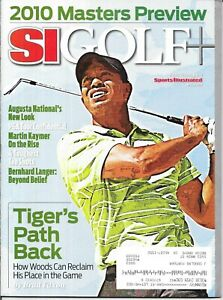 Sports Illustrated SI Golf Plus TIGER WOODS 2010 MASTERS Golf Preview PMS Mint!