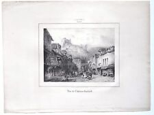 château-Gaillard 1831 Paul Huet 1806-1869 litho de Lemercier