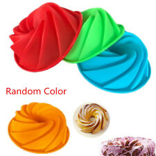 Big Large Bundt Swirl Silicone Butter Cake Pan Mold Bread Cupcake Baking Mould