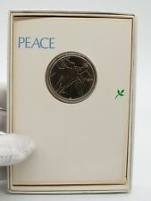 1970 Peace Medal Coin In Greeting Card By Franklin Mint.