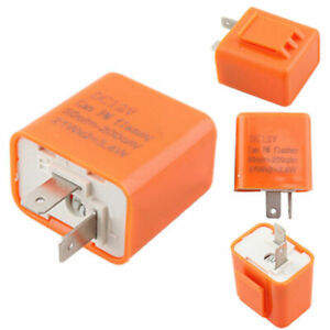 2-Pin Electronic LED Flasher Relay Fix For Car Motorcycle Turn Signal Indicator