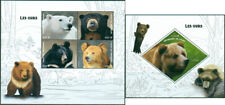 Ours Sauvage Animaux Predators Faune MNH Timbres Ensemble