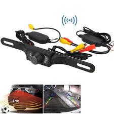 LED Caméra de Plaque Recul Vision Nocturne + Émetteur Récepteur Sans Fil Etanche