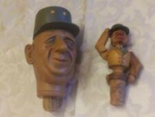 New listing Vintage Anri Carved Wood Cork Bottle Stopper <> Mechanical Man Puppet