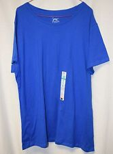 Womens Shirt Size 1X By Just My Size Blue Pull Over NWT Short Sleeve Crew Neck