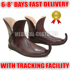 Medieval Leataher Shoes, Sca Larp Costume Ankle Boots Mens Shoe Footwear Online
