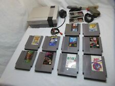 Nintendo Entertainment System NES Gray Console 10 games 2 controllers