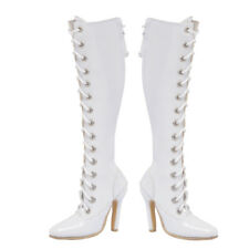 """1/6 Scale white hollow female high heel boots Shoe F 12"""" Phicen Verycool Body"""