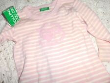 nwt United Colors of Benetton pink stripe long sleeve top baby girl 60 3 m 6 m