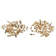 100Pcs Male + Female 6.3mm Terminals Brass Copper Crimp Wire Spade Connector