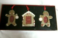 Vtg The Home Collection by St. Nicholas Square Ornament Frames Set 3 Christmas