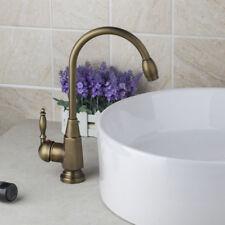 Flexible Bathroom Basin Swivel Faucet Antique Brass Mixer Single Handle/Hole Tap