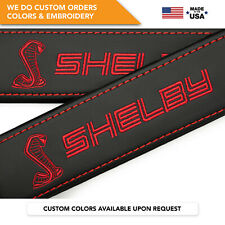 Seat Belt Covers Shoulder Pads Custom Fits Ford Mustang Shelby Cobra Red 2PCS