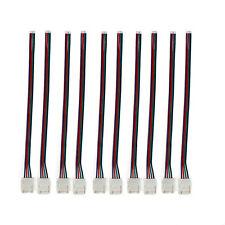 10x SMD LED Strip Schnell Verbinder Kabel Adapter 10mm für 5050 RGB Licht Leiste