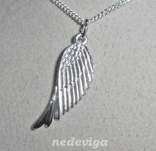 925 Sterling Silber Damen Kette 50 & Anhänger Engelsflügel Engel Flügel + Etui