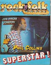 REVUE : Rock & Folk # 223 phil collins zz top the cure ricky nelson bob dylan