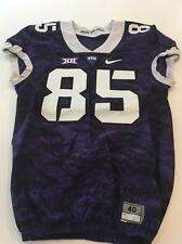 Game Worn Used Nike TCU Horned Frogs Football Jersey #85 Size 40