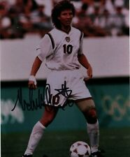 Michelle Akers Vintage 1990's 8x10 photo USA Women's soccer Autographed Signed