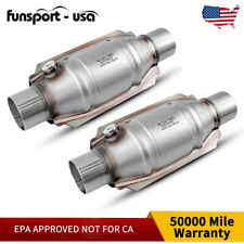 """2pcs Universal Catalytic Converter ECO II Catalyst 2"""" Pipe 9"""" Body EPA Approved"""