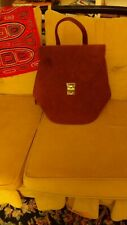 NEW Neely & Chloe Suede Leather silver Hardware Backpack burgundy red