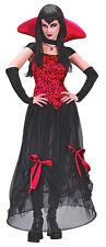 Neues AngebotDamen Rot Schwarz Bloodstone Vampiress Dracula Halloween Kostüm Größe 8-10
