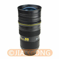 Nican 24-70mm Lens Cup Stainless interior Hot Cold Coffee Tea Mug Holder
