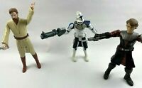 Star Wars Clone Trooper Obi Wan Kenobi  Anakin Skywalker Action Figures