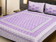 Bedspread King Size Flat Cotton Bedding With Pillow Covers.