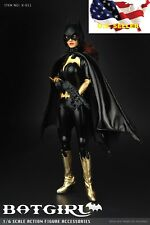 1/6 Batgirl female jumpsuit costume set w/ helmet for Phicen Hot toys kumik❶USA❶