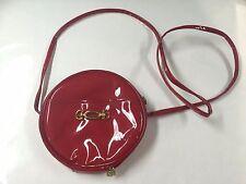 Vintage OSCAR DE LA RENTA RED PVC CROSSBODY BAG