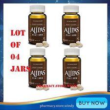 Lot of 4 Jars Alipas Ginseng Platinum, Men Testosterone,Eurycoma Longifolia.